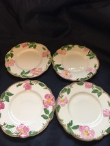 "Lot of 4 Franciscan Desert Rose Square Salad Plate 7 1/2""  - $19.79"