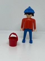 Vintage Playmobil Horse Trainer Figure and Bucket 3140 1974 - $12.86