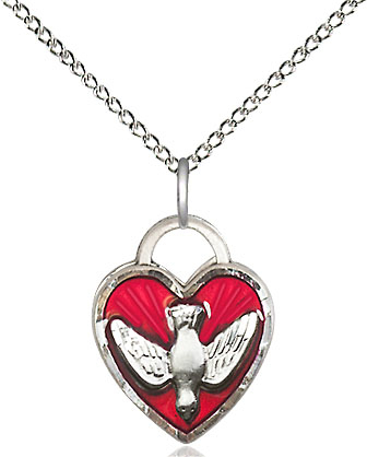 Primary image for Confirmation - Heart Shaped - Sterling Silver Pendant