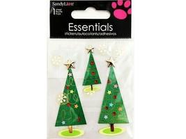 Sandylion Essentials Christmas Trees Sticker Set #SK8012
