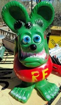 RAT FINK Big Daddy Ed Roth Statue  Hot Rod Art Cast Aluminum 23 '' tall - $163.35