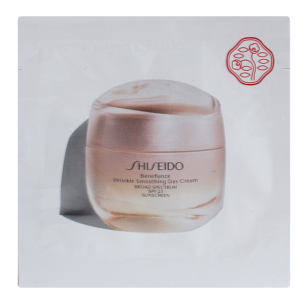 Primary image for Shiseido Benefiance Wrinkle Smoothing Day Cream SPF 23, SAMPLE 0.05oz/1.5ml