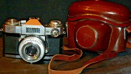 Zeiss Ikon Contaflex Super Camera with hard leather Case AA-192015 Vintage image 2