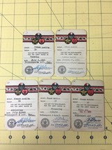 Lot of 5 Vintage Boy Scouts of America Merit Badge Qualification Cards 1949-50  - $78.35