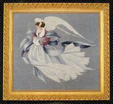 Angel of Winter cross stitch Lavendar & Lace Marilyn Leavitt-Imblum - $12.60