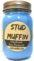 Stud Muffin 16oz All Natural Handmade Soy Candle - Blueberry Muffin Frag... - €14,87 EUR