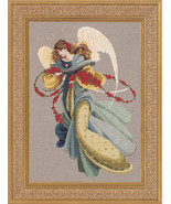 Angelica angel cross stitch Lavendar & Lace Marilyn Leavitt-Imblum - $12.60