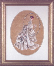 The Bride wedding cross stitch Lavendar & Lace Marilyn Leavitt-Imblum - $10.80