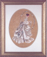 The Bride wedding cross stitch Lavendar & Lace Marilyn Leavitt-Imblum - $10.80