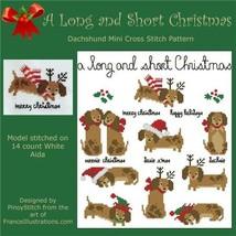Dachshund A Long and Short Christmas cross stitch chart Pinoy Stitch - $10.80