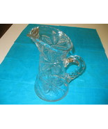 Elegant American Brilliant Glass Clear Crystal Cherry Pattern Pitcher - $134.99