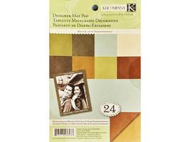 K&Company Earth Tones Solid Mat Pad Cardstock #30-138438