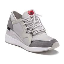 Michael Kors MK Women's Liv Trainer Sneakers Shoes Aluminum 8.5 M