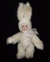 Marie Osmond White Rabbit Knickerbocker Porcelain Head Mohair Body SIGNED - $33.66