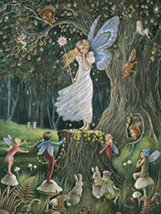 Queen of the Fairies  Jean Ron Henry Collectible Vintage 8X10 Matted Foi... - £4.96 GBP