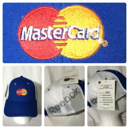 Reebok MASTERCARD Logo Mesh Hat Blue Cotton and 50 similar items 675890feaae2