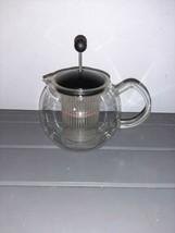 Bodum Tea Infuser Press 4 Cup Jorgensen Design Switzerland Glass Handle - $19.99