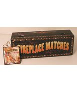 Primitive Fireplace Matches Wooden Black Painted Box - $29.95