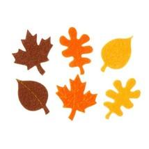 Bulk Buy: Darice Crafts for Kids Felties Felt Stickers Harvest Leaves 42... - $17.81