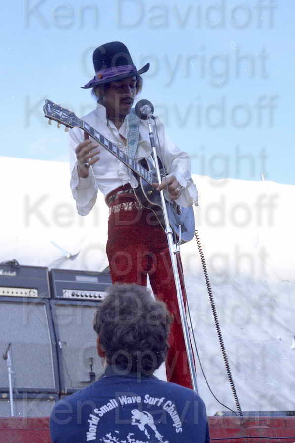 Jimi Hendrix Rare 12x18 Photograph Performing at 5/18/68 Miami Pop Festival