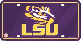 Louisiana State University LSU Tigers Metal License Plate Auto Tag Sign - $9.95