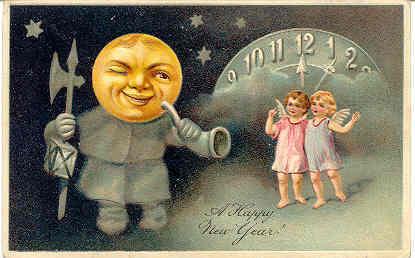 New Year Greetings Paul Finkenrath of Berlin 1908 Post Card