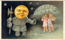 New Year Greetings Paul Finkenrath of Berlin 1908 Post Card - $12.00