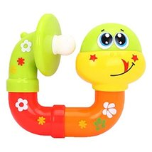 Set of 2 Cute Snake Cartoon Baby Toy Infant Plastic Rattles Hand Bell image 2