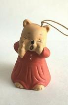 """Vintage Ceramic Animal Bell Figurine 2.5""""Tall Christmas Ornament  - $8.66"""