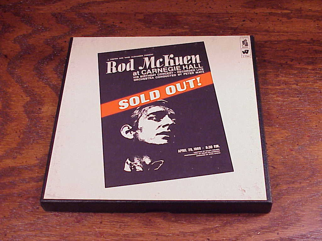 1969 Rod McKuen at Carnegie Hall Reel to Reel to Reel Tape, no. 1794