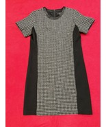 Jcrew Gray And Black Wool Houndstooth Short Sleeve Dress Women's Size 6 ... - $38.12