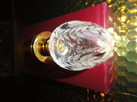 Faberge Clear Etched  Crystal  Bottle Stopper - $325.00