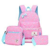 Samaz 3Pcs Kids Book Bag Polka Dot Bow School Backpacks for Teen Girls - $26.99