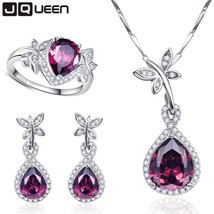 JQUEEN Gemstone Jewelry 925 Sterling Silver Chains and Necklaces, Earrings, Ring - $153.00