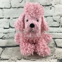 Ganz Webkinz Pink Poodle Plush Sitting Stuffed Animal Toy Puppy Dog  - $11.88