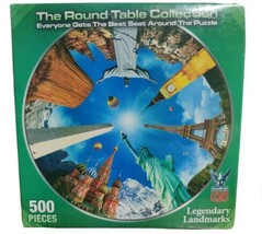 """Jigsaw Puzzle 1000 Piece """"Legendary Landmarks"""" The Round Table Collection - $11.29"""