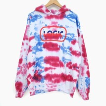 Logic Custom Tie-Dye Hoodie Sweatshirt Pullover Graphic Art Colorful Ret... - $98.99
