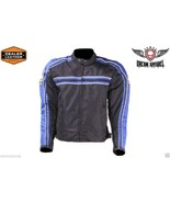 MEN'S MOTORCYCLE JACKET BLACK & BLUE Certified Armor SM - 3XL SALE SALE ... - $44.99+
