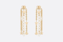 AUTH Christian Dior 2019 LE PRINTEMPS DE DIOR Multi Chain Long Dangle Earrings