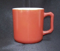 Hazel Atlas Mug Cup Platonite Moderntone Child Size Orange Milk Glass - $14.99