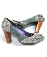 Due Farina Anthropologie Size 7.5 M Small Doses Heels Pumps Suede Leathe... - $14.85