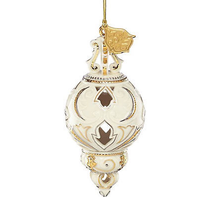 Lenox 2017 Annual Ivory Pierced Ornament Gold Accents Elegant Christmas Gift NEW