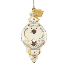 Lenox 2017 Annual Ivory Pierced Ornament Gold Accents Elegant Christmas ... - $59.00