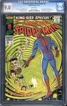 AMAZING SPIDER-MAN ANNUAL #5-CGC 9.0-WHITE PAGES- 1st PETER'S PARENTS 06... - $357.69
