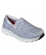 SKECHERS WOMEN'S COMFORT FLEX HC PRO SR II GRAY/WHITE 77239 - $49.00+