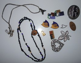 Lot vintage jewelry pins, brooch, necklace 1950s - 1990s Sarah Coventry and more - $15.00