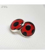 DWL Ladybug Silver Post Cabochon-Style Earrings - $11.99