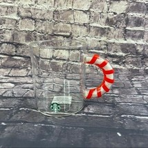 Starbucks Candy Cane Mugs Glitter Handle 12 Oz - $25.50