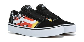 Scarpe Vans Ward Flame Young taglie Ragazzi, skate Shoes Scacchi Checker... - $54.55