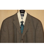 NWOT Baracuta 46R Wool Dark Gray Check 4 Season Blazer + Tie New   - $101.68